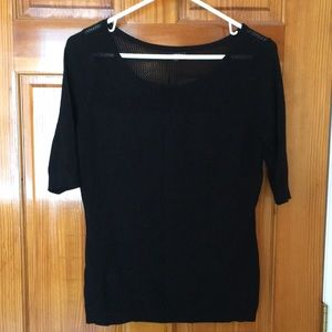 Express Black Half Sleeve Sweater - Medium